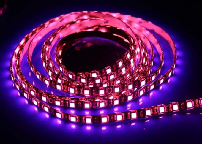 Pink Outdoor Led Lighting Strips Waterproof Flexible Low Lumen