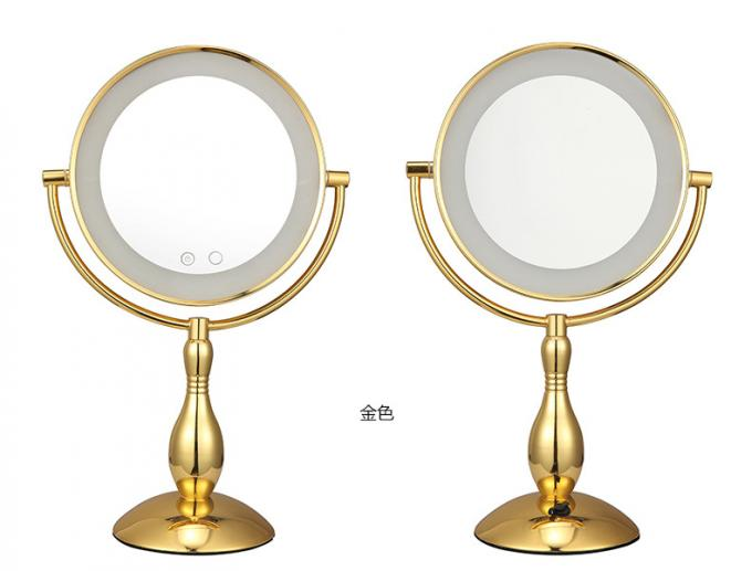 Metal Frame Battery Double Sided Light Up Makeup Mirror 7 Inch Or 8 Inch