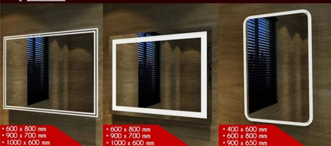 Large Led Lighted Anti Fog Bathroom Mirror Wall Mounted With Defogger And Wifi