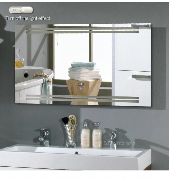 Luxury Large Vanity Mirror With Lights Digital Clock Console Table