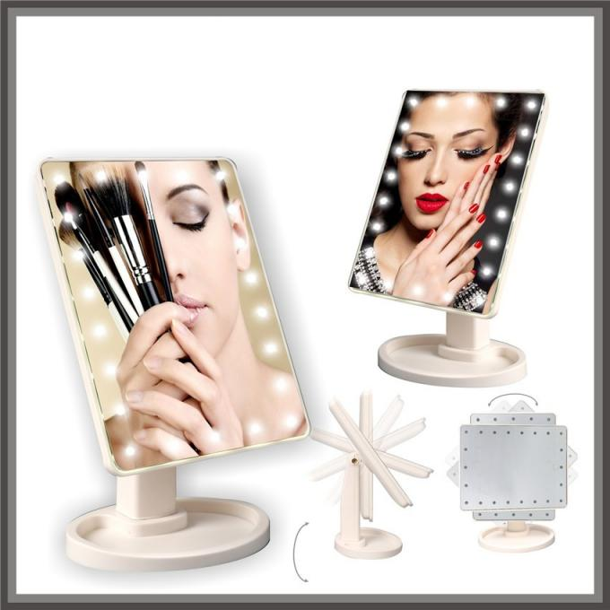Portable Magnifying Makeup Mirror 10x FUSXIN Led Table Mirror