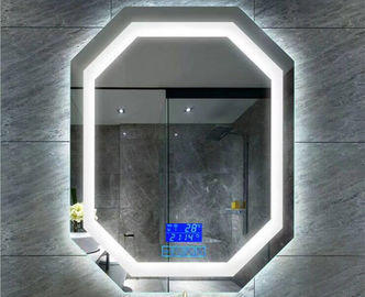 China Rectangle / Arch / Oval Fog Free Bathroom Mirror 4mm Silver Coated Glass supplier