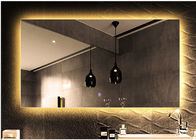 China Frameless LED Bathroom Mirror With Radio Anti - Fog Rectangular Bathroom Mirror factory