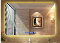 China Modern Illuminated LED Bathroom Mirror With Radio Waterproof Rectangle factory
