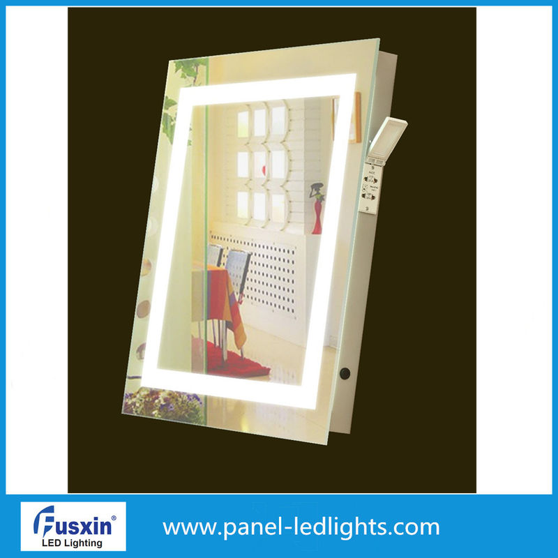 Frameless Square Oval Illuminated Bathroom Mirror With Demister