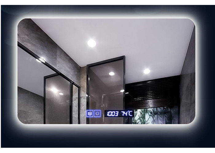Intelligent Led Illuminated Bathroom Mirror / Led Radio Mirror 3 YEARS Warranty