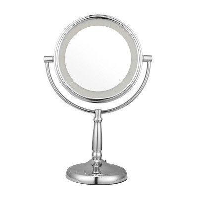 2 Face 1X /5X Double Sided Magnifying Mirror With Lighted 7 Inch