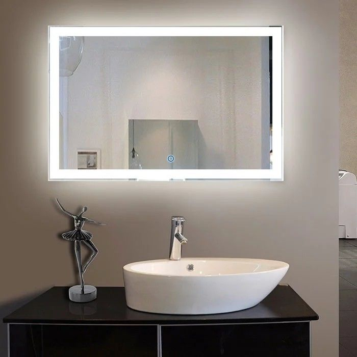 Wall Mounted Led Bathroom Mirror With