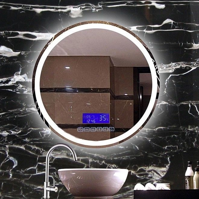 600MM Round Bathroom Mirror With Lights / Frame / Bluetooth