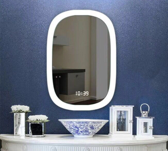UL Wash Basin Luxury LED Backlit Fogless Bathroom Mirror / Light Up Mirror