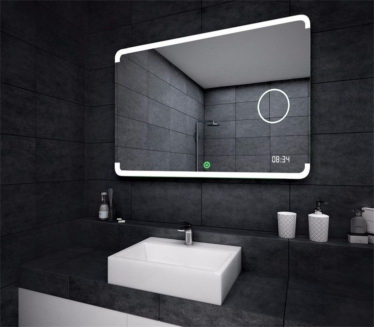 Backlit Led Illuminated Bathroom Mirror For Wall Decoration Frameless