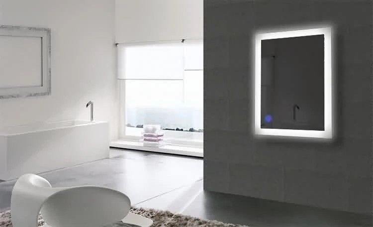 Luxury Bathroom Wall Mounted Mirror With Lights Sensor Led Vanity