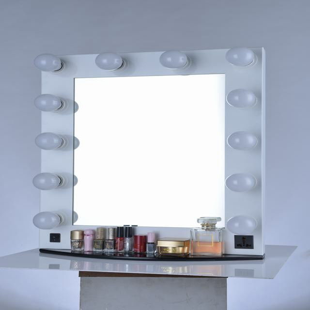 9W Dimmable Makeup Vanity Mirror With Lights  60x80cm Big Size Led Dressing Mirror