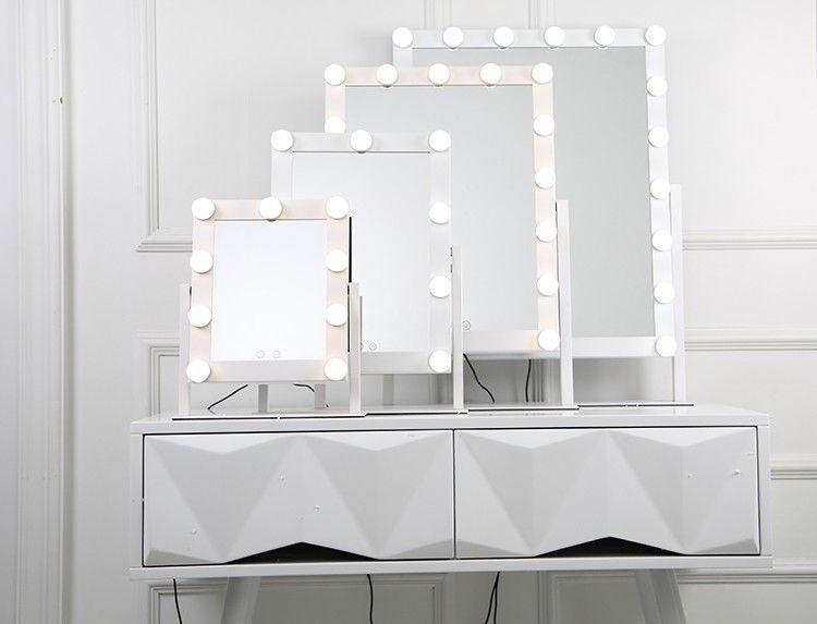 Salon Led Bluetooth Speaker Makeup Mirror 40x50cm Light Up Cosmetic Mirror