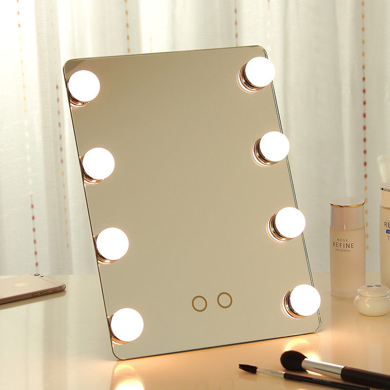 led makeup mirror with bulb ,hollywood mirror with led bulbs can be wall mounted