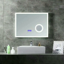 China Smart Light Up Vanity Wall Mirror With Radio / Shower Mirror With Bluetooth Speaker  factory