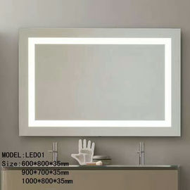 China Bluetooth Hotel Bathroom Mirror / Led Backlit Mirror With Border factory