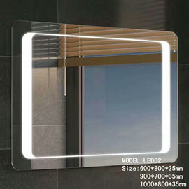 China Stainless Frame Hotel Bathroom Mirror With Radio ,  Magnifying Custom Backlit Mirror factory