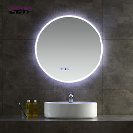 China Bluetooth Wall Mounted Led Lighted Bathroom Vanity Mirror Anti Fogging Slivered factory
