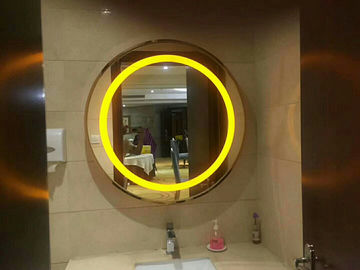China 3000K Or 6000K Wall Mounted LED Strip Mirror / Round Oval Vanity Mirror With Lights factory