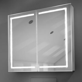 China 500mm Small Bathroom LED Mirror Cabinet Sets Grey And White Wall Hanging factory
