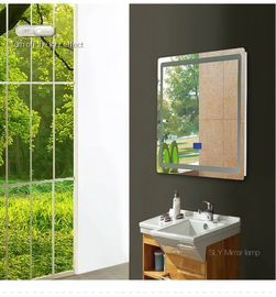 China Bluetooth Led Behind Mirror High Output Stainless Steel Frame Illuminated Vanity Mirror factory