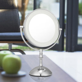 China Magnifying 3X Cosmetic Double Sided Lighted Makeup Mirror White / Warm Whita Can Change factory
