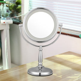 Round 10x Lighted Makeup Mirror / Double Sided Magnifying Mirror