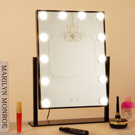 China Cosmetic Led MakeUp Mirror With LED Bulbs Table Top Hollywood Mirror factory