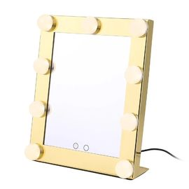Customized LED Desktop Mirror / Smart Vanity USB Hollywood Bulb Mirror