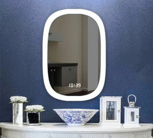 China UL Wash Basin Luxury LED Backlit Fogless Bathroom Mirror / Light Up Mirror factory