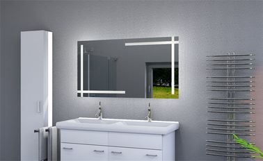 China 3x 5x Magnifying Illuminated Led Strip Vanity Mirror With CE UL ROHS Certified factory