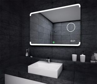 Backlit LED Illuminated Bathroom Mirror For Wall Decoration , Frameless