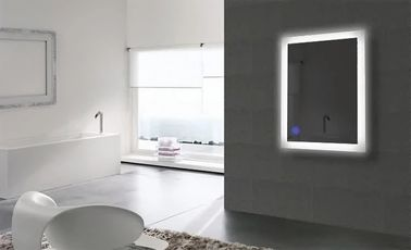 China Luxury Bathroom Wall Mounted Mirror With Lights Sensor , Led Vanity Mirror factory
