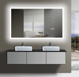 China ETL Certified Frameless Backlit Light Up Wall Mirror For Bathrooms  factory