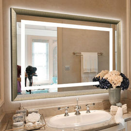 China Frameless LED Backlit Mirror Wall Mounted Hotel Vanity Mirror factory