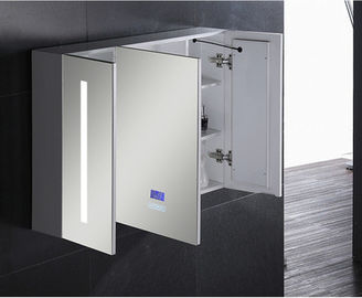 China Aluminium Bathroom Medicine LED Mirror Cabinet With Touch Sensor And Defogger factory