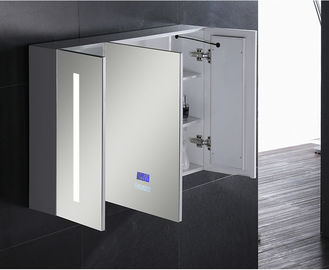 China Single Door Ss  Bathroom Vanity LED Mirror Cabinet / Illuminated Wall Cabinets factory