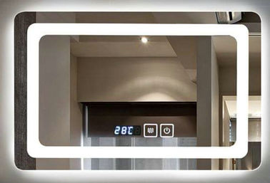 China IP44 Wall Mounted Led Behind Mirror For Luxury Hotel , Frameless Bathroom Mirror factory