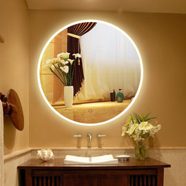 China Usa Touch Sensor Switch Wall Makeup Mirror With Led Lights For Villa , Circular Led Mirror factory